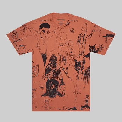 FUCKING AWESOME DRAWINGS SS T-SHIRT TERRACOTTA