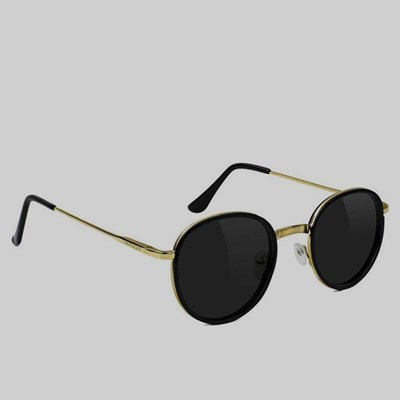 GLASSY LINCOLN POLARIZED SUNGLASSES BLACK GOLD