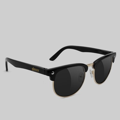 GLASSY MORRISON SUNGLASSES BLACK GOLD