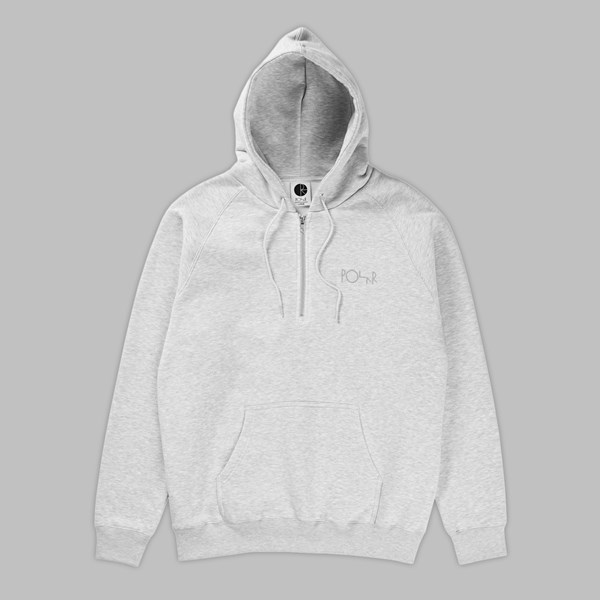POLAR SKATE CO. HALF ZIP HOOD SPORTS GREY