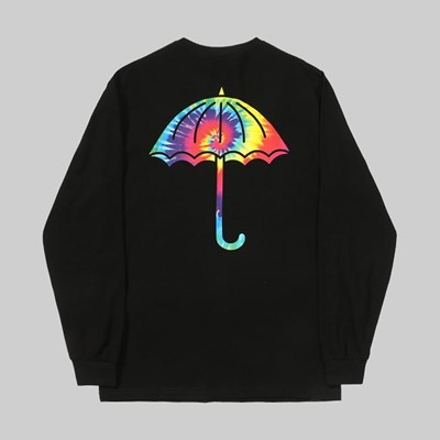 HELAS TIE DYE LONG SLEEVE TEE BLACK