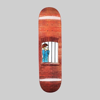 HOCKEY DONOVAN PISCOPO 'BEHIND BARS' DECK 8.38""