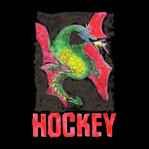 HOCKEY SKATEBOARDS 'DRAGON' SS T-SHIRT BLACK