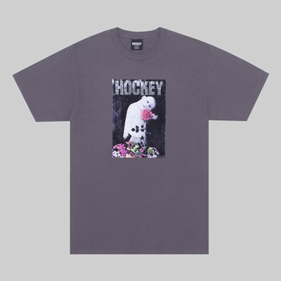 HOCKEY SKATEBOARDS HAPPY PLACE SS T-SHIRT CHARCOAL