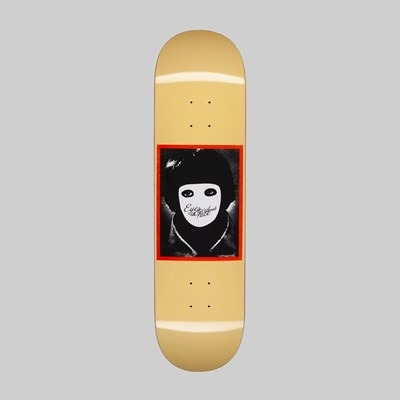 HOCKEY SKATEBOARDS 'NO FACE' DECK YELLOW 8.25