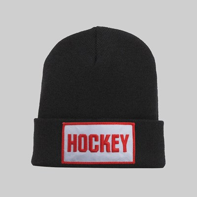 HOCKEY PATCH BEANIE BLACK