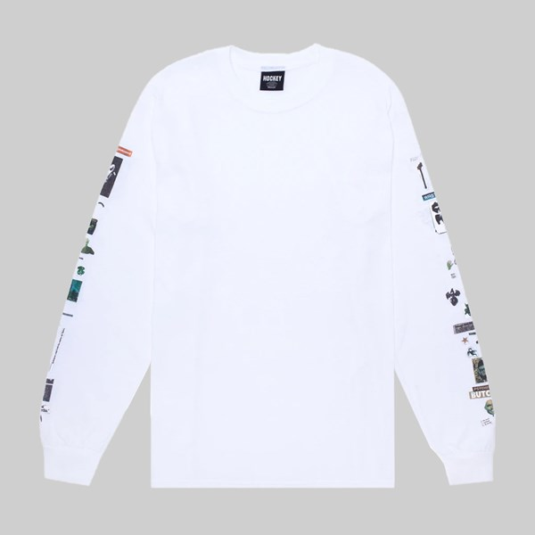 HOCKEY SKATEBOARDS SUMMONED LONGSLEEVE TEE WHITE