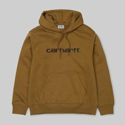 CARHARTT HOODED SWEAT HAMILTON BROWN