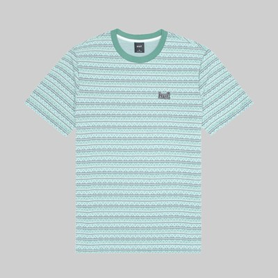 HUF ALLEN SS KNIT TOP HARBOUR GREY