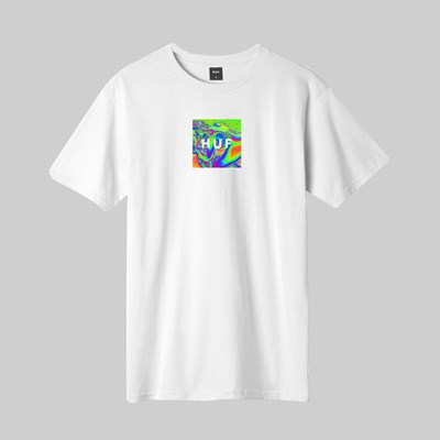 HUF ACID HOUSE SS T-SHIRT WHITE