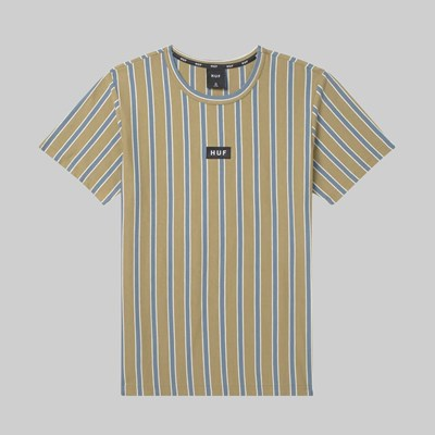 HUF DEXTER STRIPE SS KNIT TOP BLUE