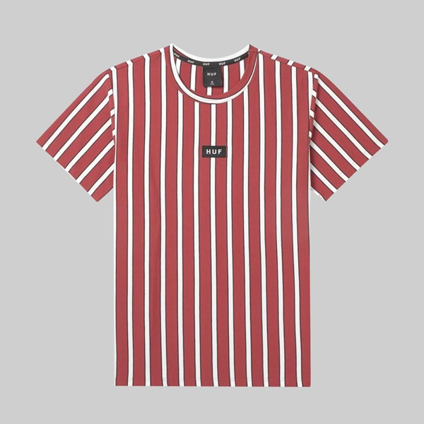 HUF DEXTER STRIPE SS KNIT TOP RED