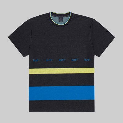 HUF ELLIS YARN DYE STRIPE SS KNIT TOP BLACK