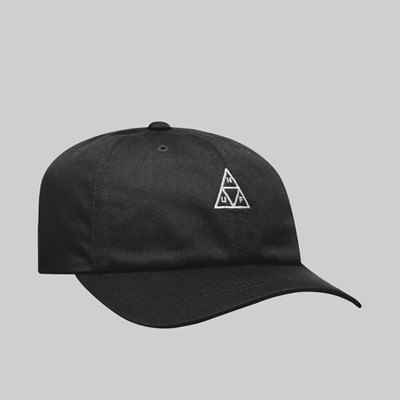 HUF ESSENTIALS TRIPLE TRIANGLE CV CAP BLACK
