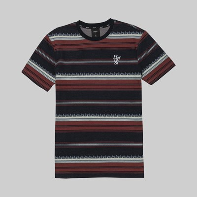 HUF HANA STRIPED SS KNIT DARK NAVY