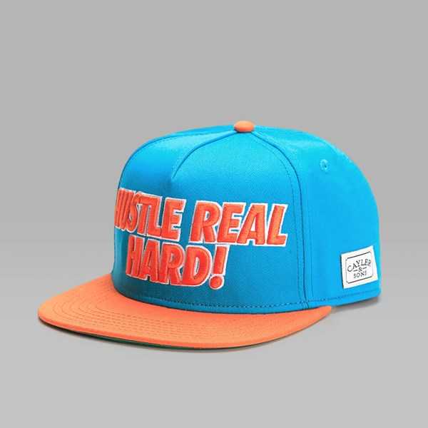Cayler & Sons Hustle Hard Cap Teal-Orange