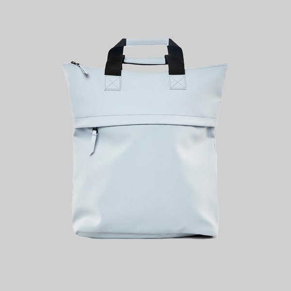 RAINS TOTE BACKPACK METALLIC ICE GREY