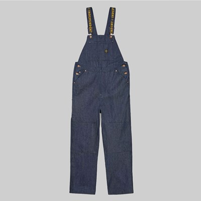 BRIXTON X INDY YARD DENIM OVERALL RAW INDIGO