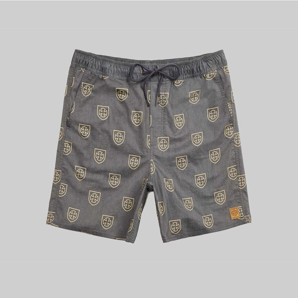 BRIXTON X INDY PAROLE SHORT BLACK YELLOW