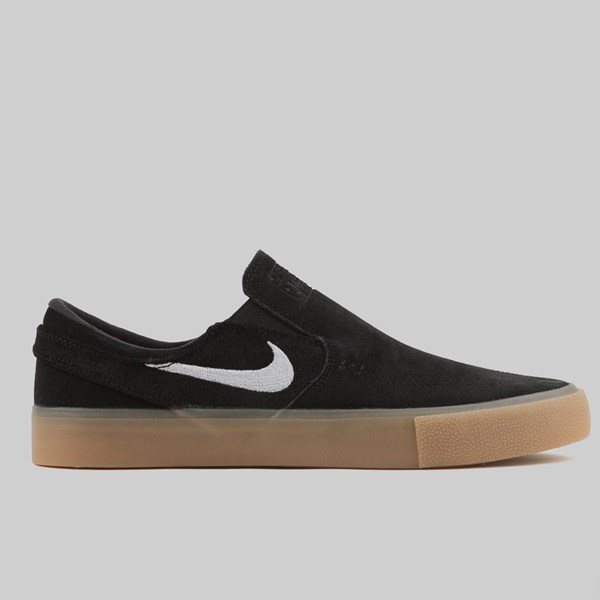 bcc6787181 NIKE SB ZOOM JANOSKI SLIP ON RM BLACK WHITE GUM | NIKE ...