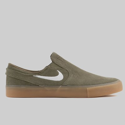 NIKE SB ZOOM JANOSKI SLIP-ON RM MEDIUM OLIVE GUM