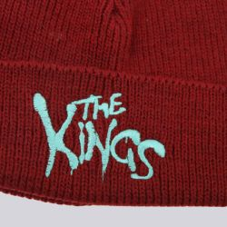 King Apparel Warriors Bobble Beanie Burgundy