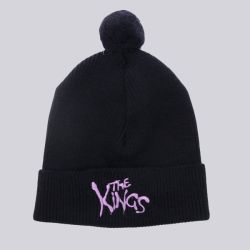 King Apparel Warriors Bobble Beanie Navy