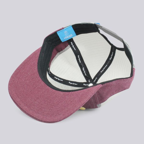 King Apparel Warriors Range Mesh Snapback Cap Burgundy