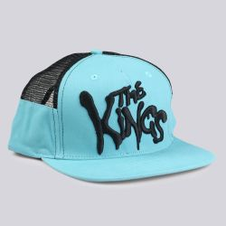 King Apparel Warriors Range Mesh Snapback Cap Turquoise