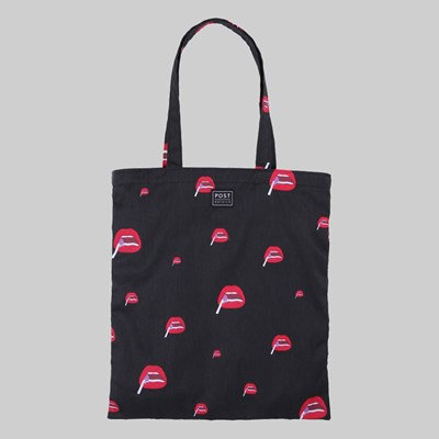 POST DETAILS KITSCH TOTE BAG BLACK