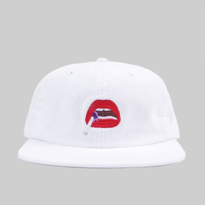 POST DETAILS KITSCH EMB MOUTH CORD CAP WHITE