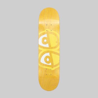 KROOKED SKATEBOARDS TEAM EYES YELLOW DECK 8.00