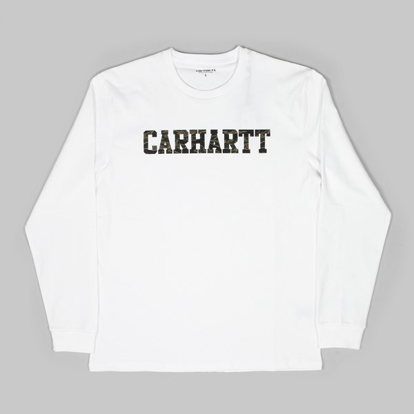CARHARTT COLLEGE LS T-SHIRT WHITE CAMO TIGER
