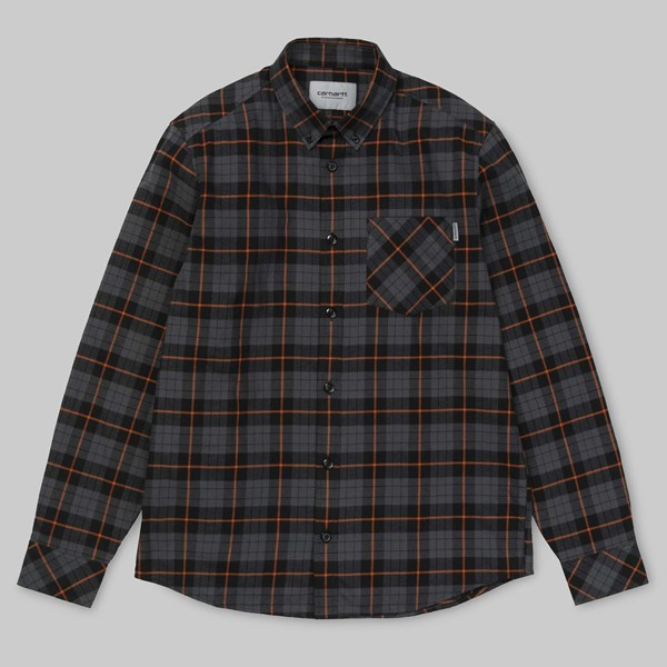 CARHARTT SWAIN CHECK LS SHIRT BLACKSMITH