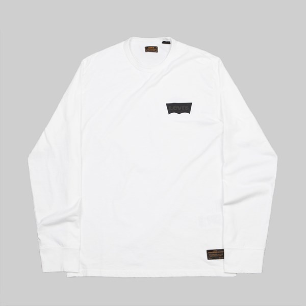 LEVI'S SKATE GRAPHIC LS TEE BATWING WHITE