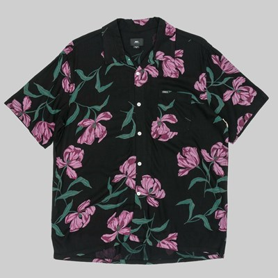 OBEY LILY WOVEN SS SHIRT BLACK MULTI