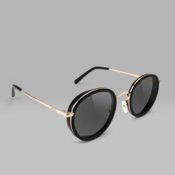 GLASSY LINCOLN SUNGLASSES BLACK GOLD