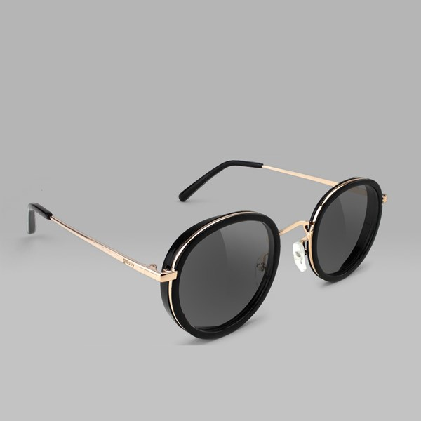 a9dea0ff0f8 GLASSY LINCOLN SUNGLASSES BLACK GOLD