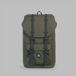 HERSCHEL LITTLE AMERICA BACKPACK FOREST NIGHT-BLACK RUBBER