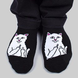 RIP N DIP LORD NERMAL ANKLE SOCKS BLACK