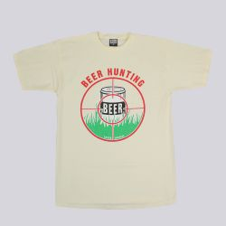 Loser Machine Drunk Hunt T Shirt Cream