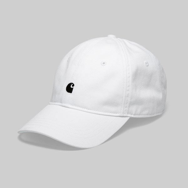 CARHARTT MADISON LOGO CAP WHITE DARK NAVY