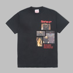 THE HUNDREDS X FRIDAY THE 13TH MASK TEE BLACK