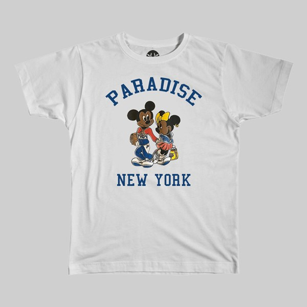 PARADISE NYC MICKEY AND MINNIE SS T-SHIRT WHITE