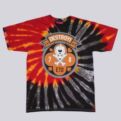 Mishka Death Dealer Tie Dye T Shirt Grey Lava