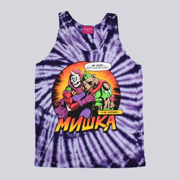 Mishka Final Moments Tie Dye Tank Top Purple