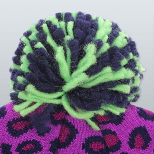 ad683374cf9 Mishka Keep Watch Safari Pom Knit Beanie Magenta