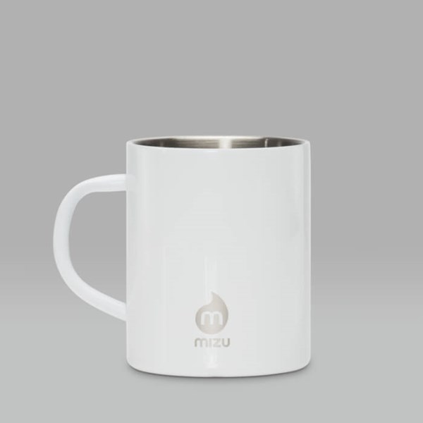 MIZU INSULATED STAINLESS STEEL CAMP CUP 14OZ WHITE