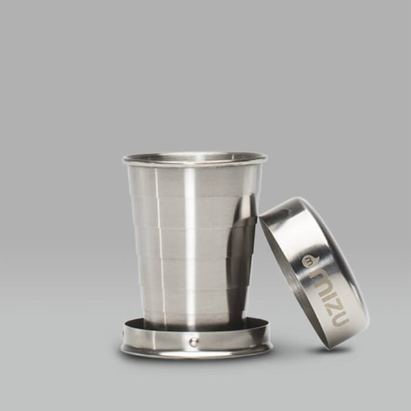MIZU COLLAPSIBLE STAINLESS STEEL SHOT CUP 2OZ