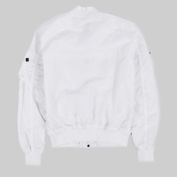 ALPHA INDUSTRIES MA-1 TT NASA REVERSIBLE JACKET WHITE